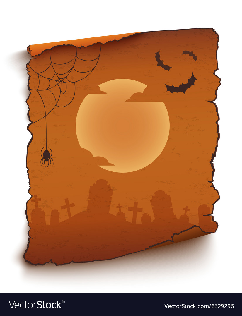 Happy Halloween background template vector image