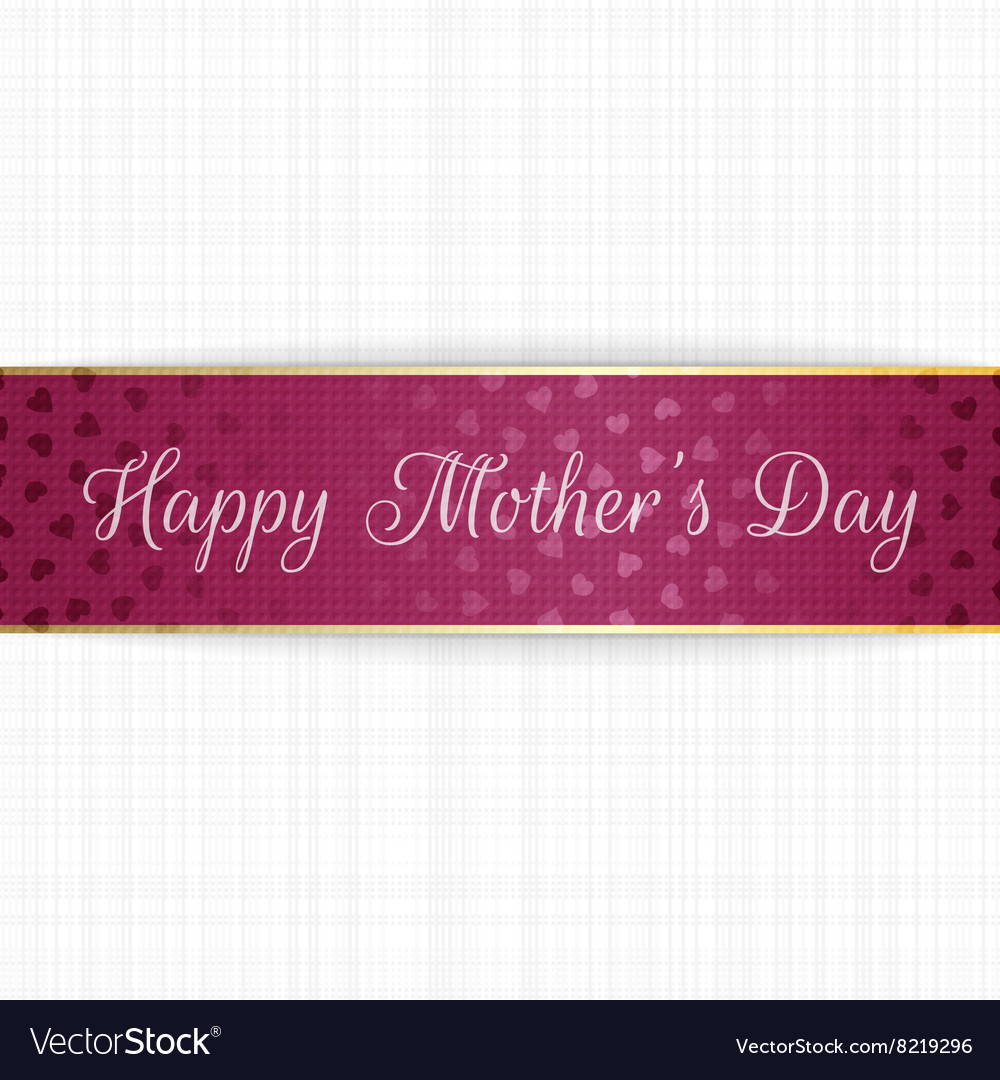 Mothers Day realistic greeting bend Banner
