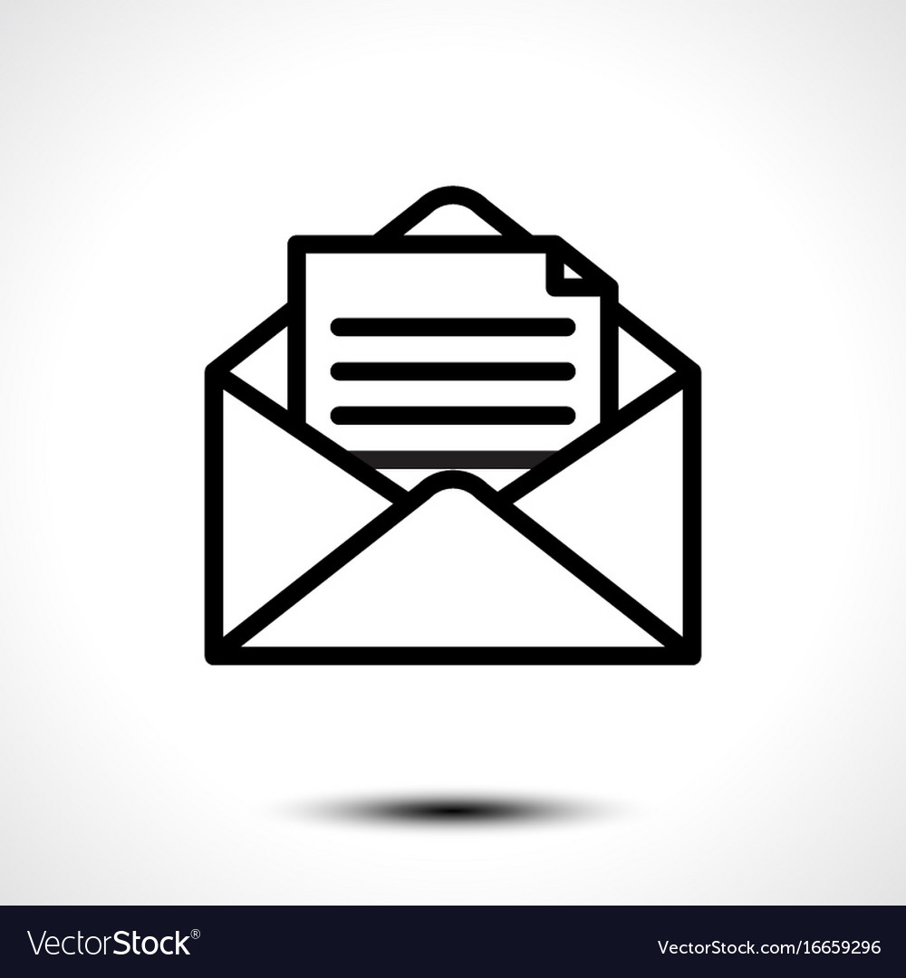 open envelope for letter royalty free vector image