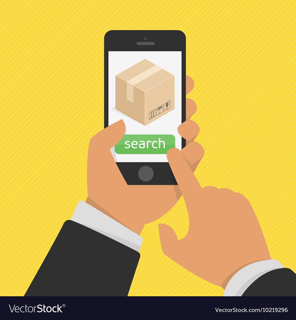 Order tracking app on smartphone screen