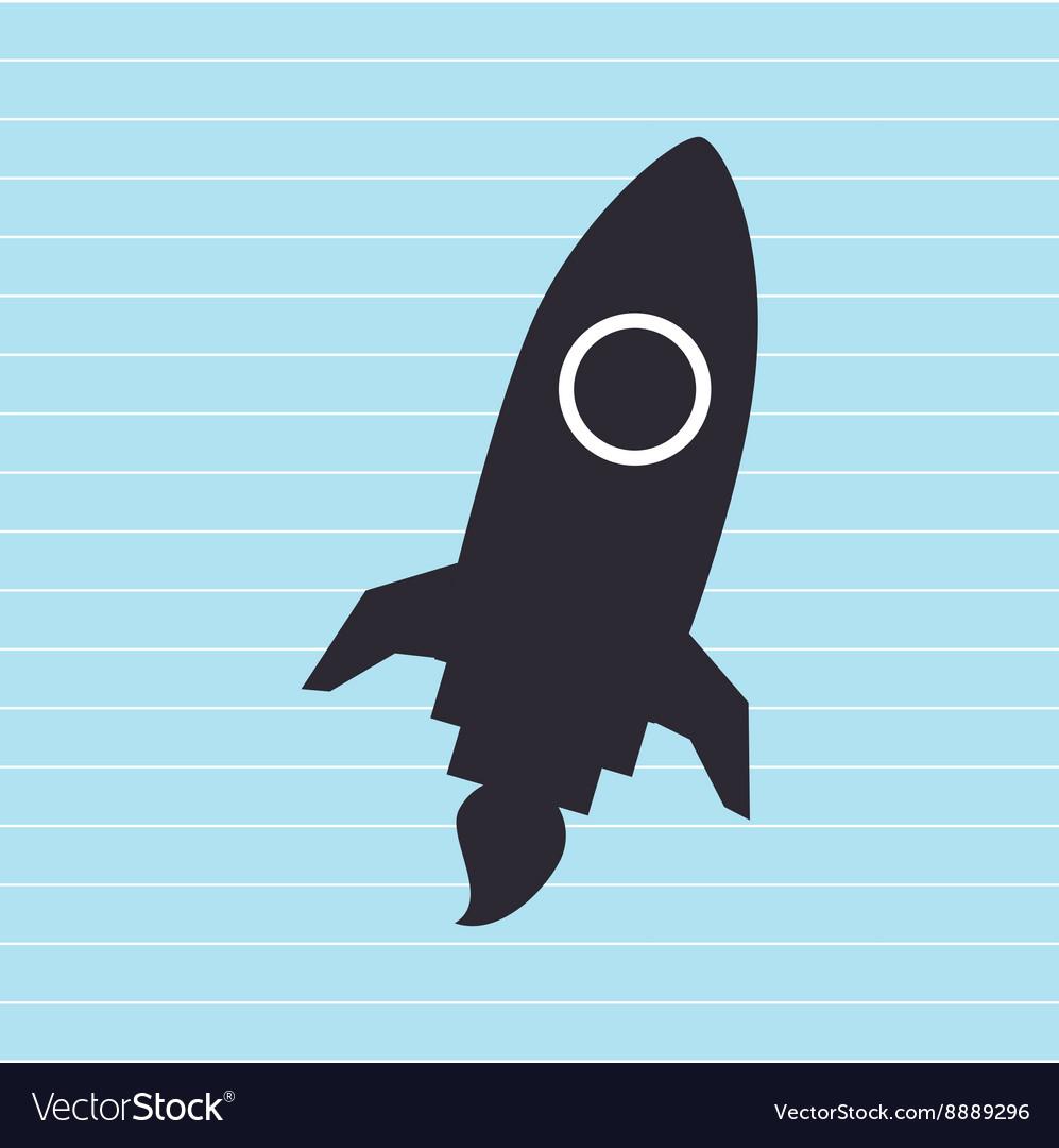 Rocket launch design vector image
