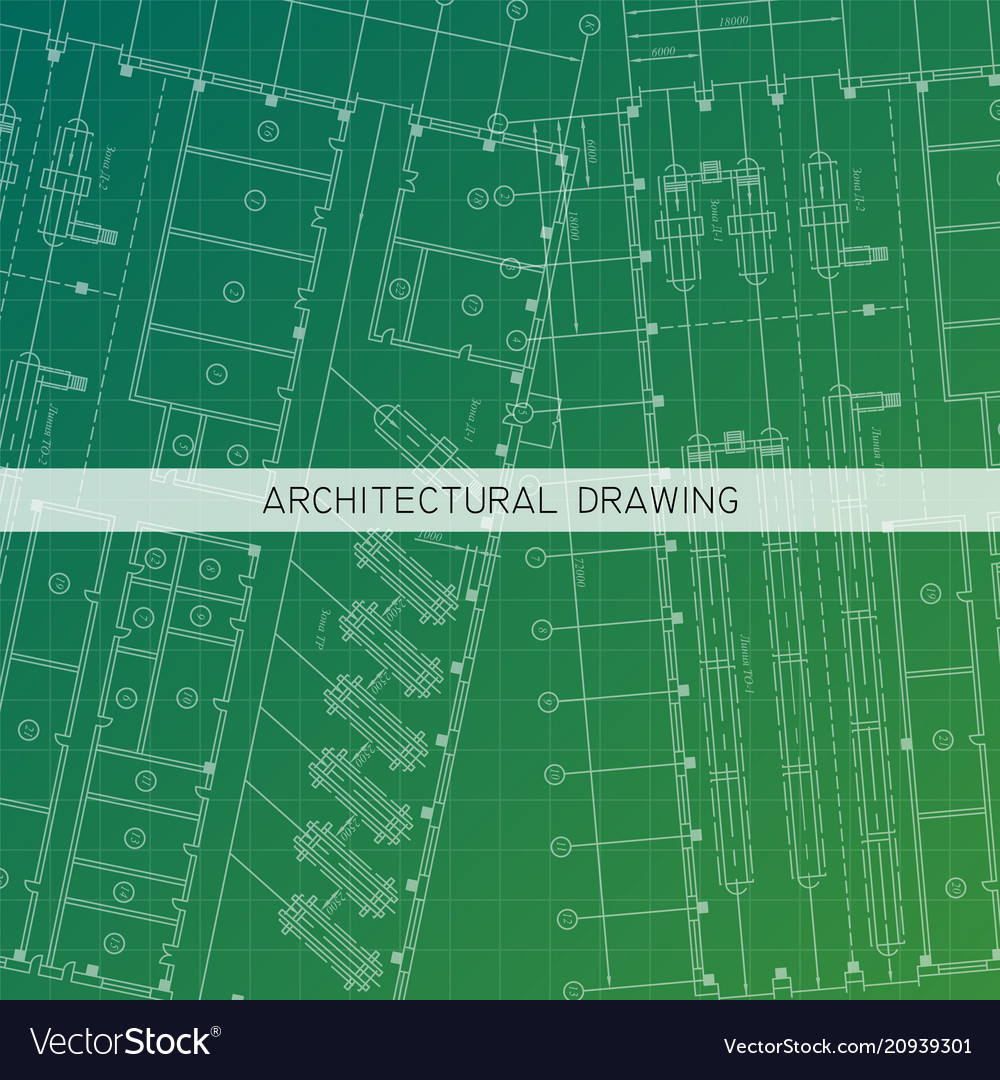 Architectural drawing architectural plan in