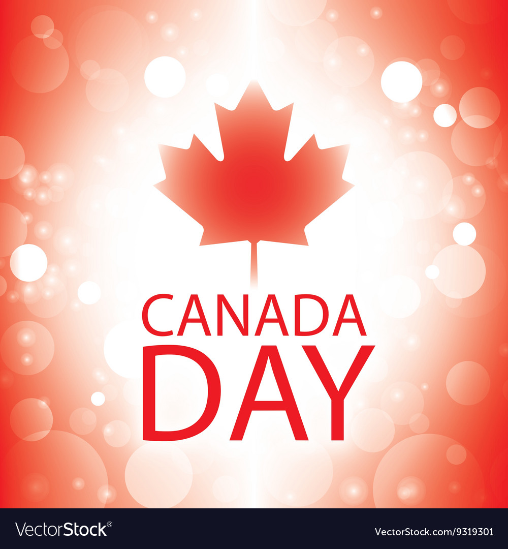 canada day banner with canadian flag abstract vector image