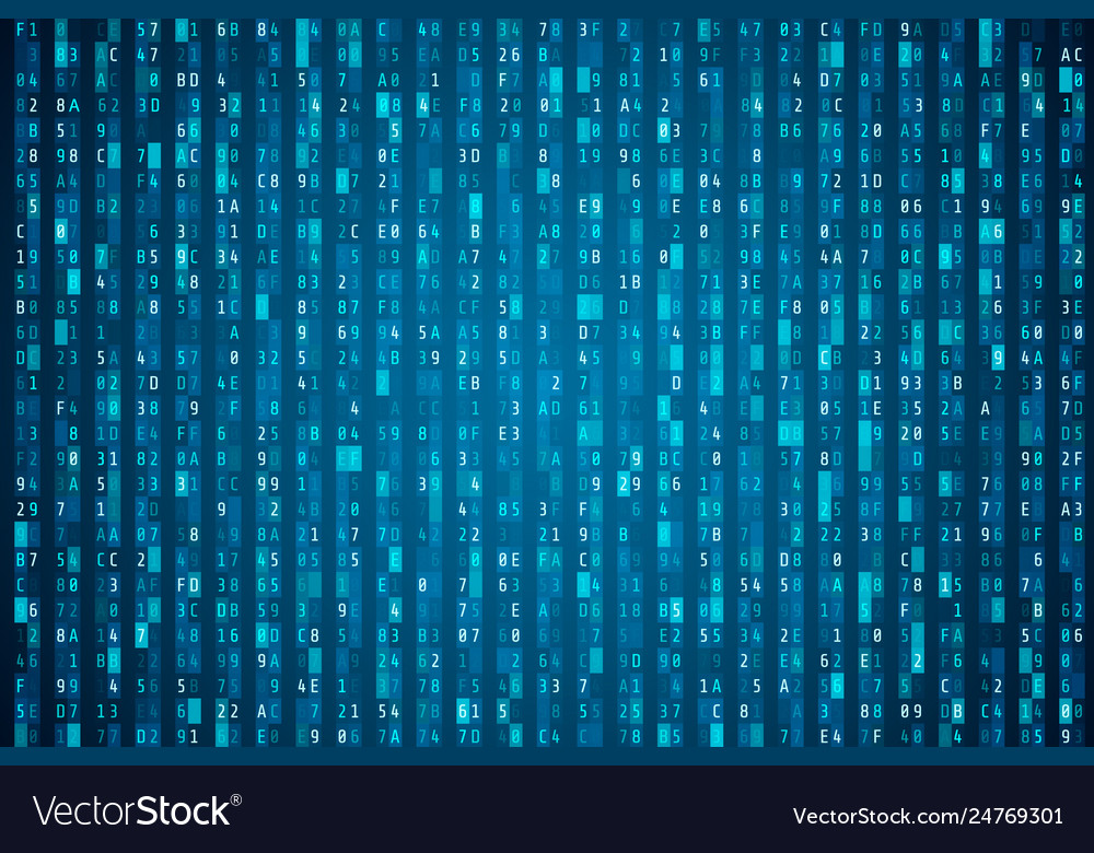 Hex code stream random hexadecimal code cyber