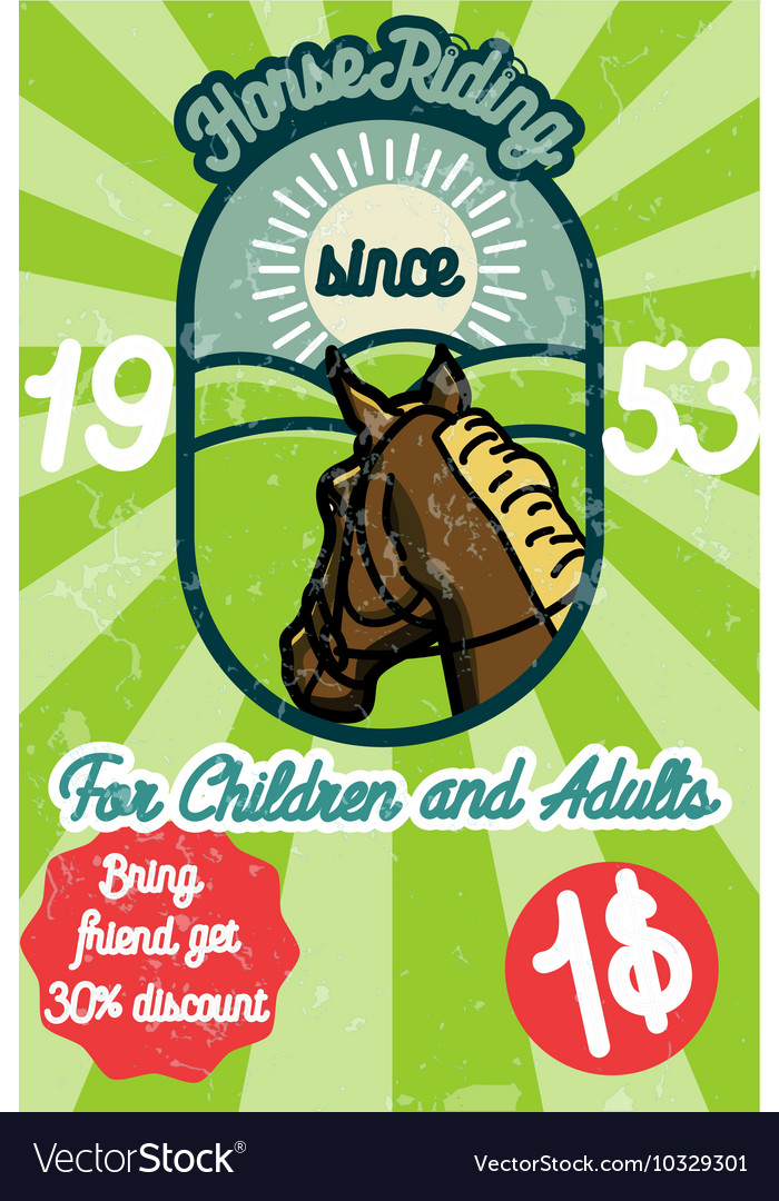 Horse riding banner