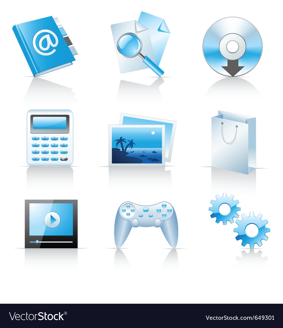Icons for web applications and services