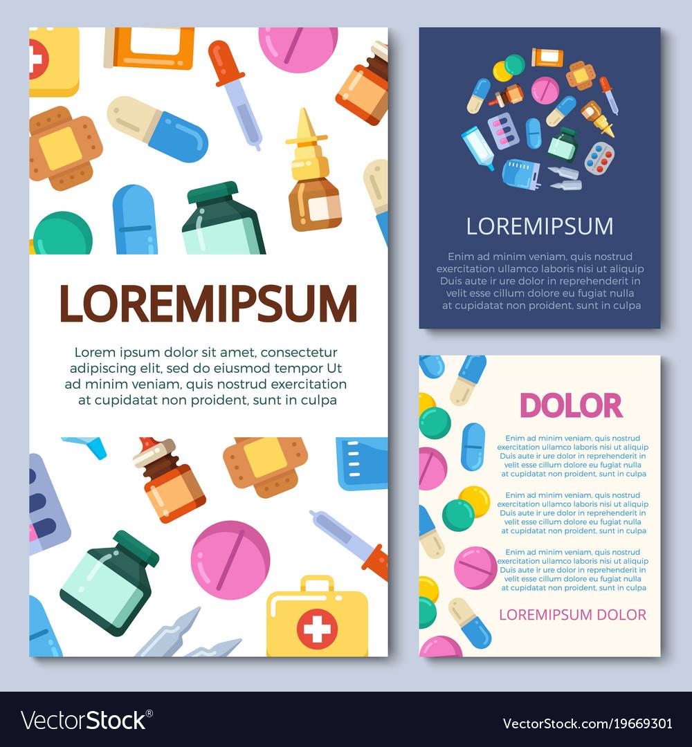 Medicine bottles pills vitamins vector image