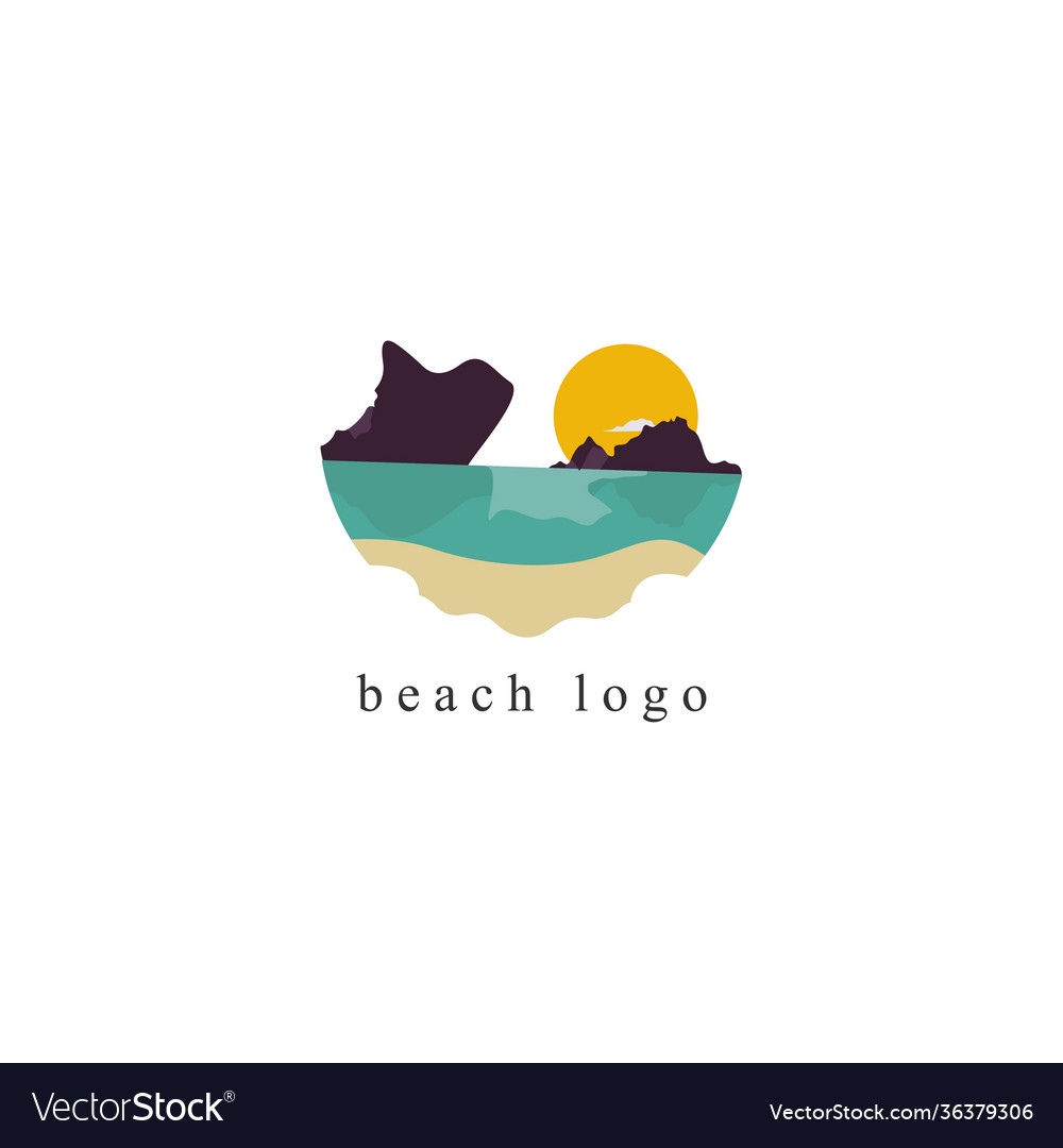 Beach logo on white background