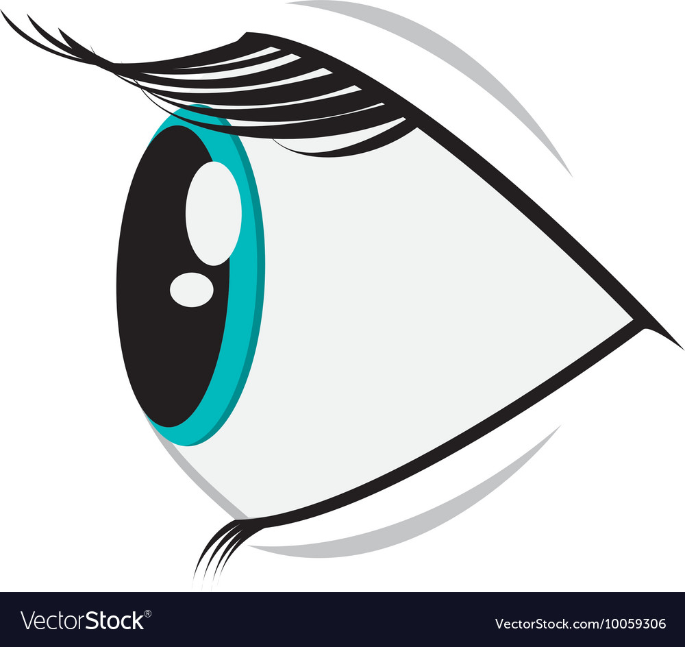 Cartoon eye profile icon vector image