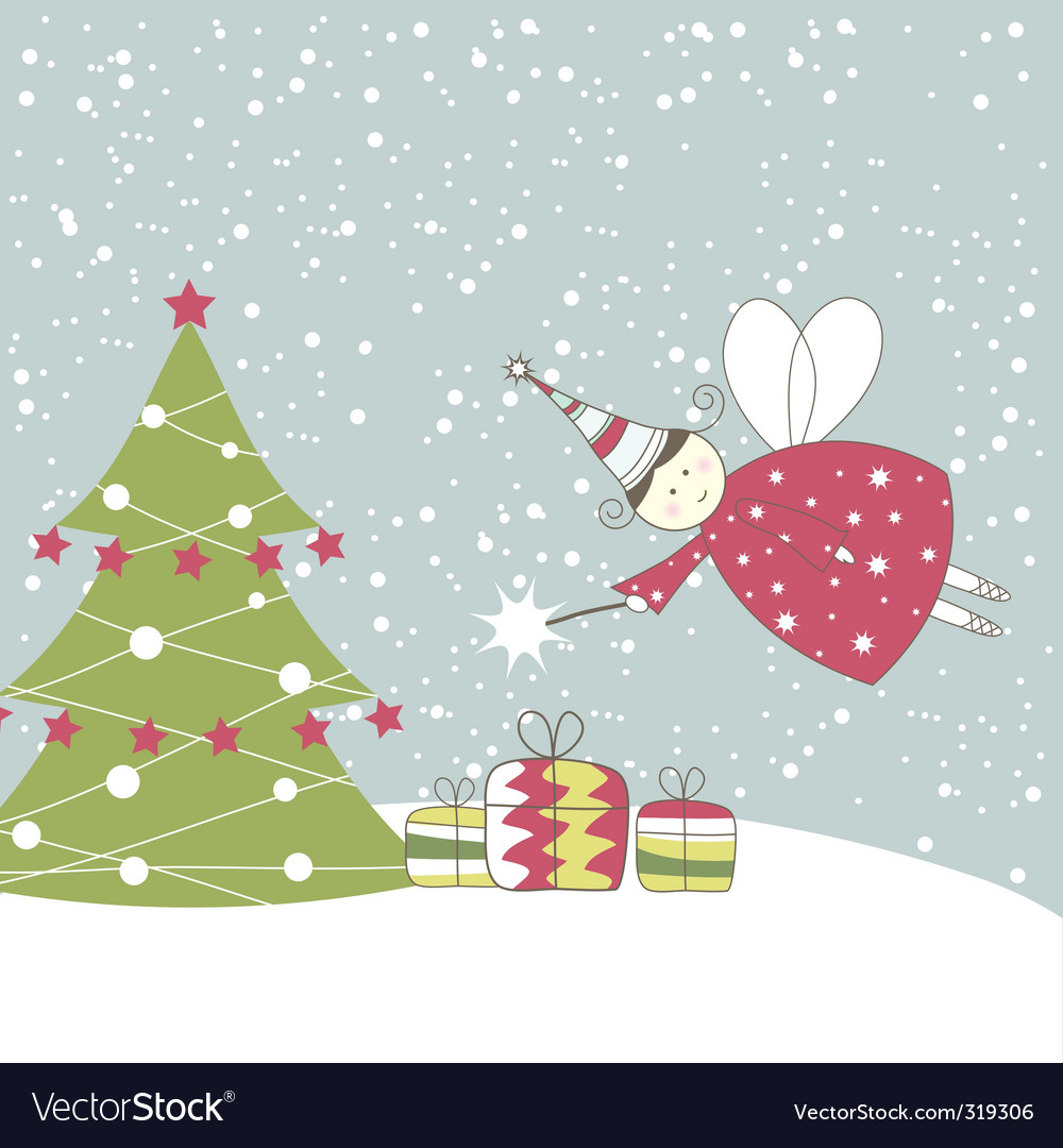 Christmas angel vector image