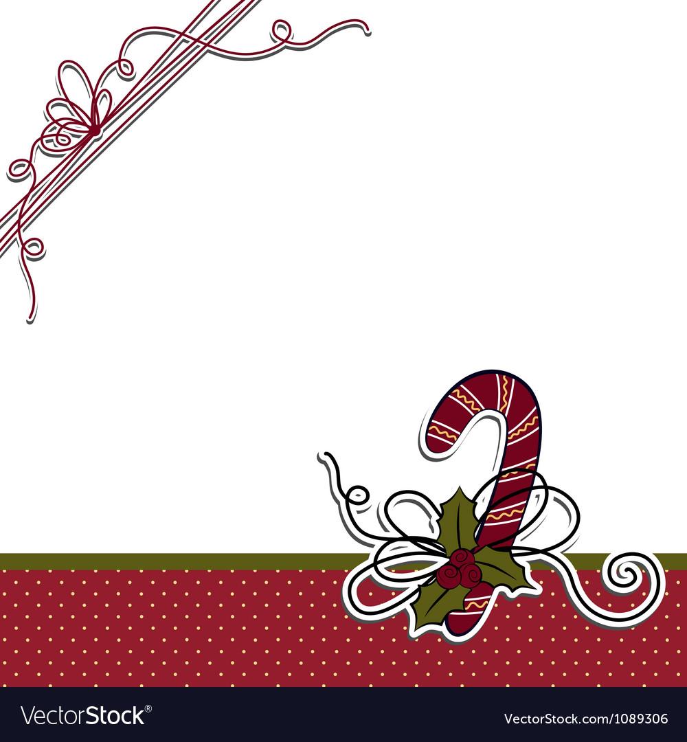 Cute christmas postcard template Royalty Free Vector Image