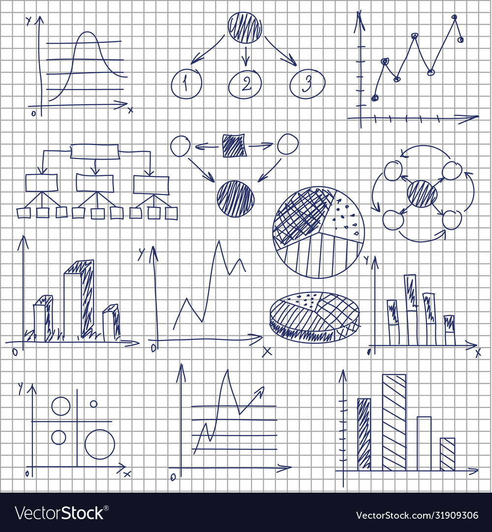 Hand-drawn diagrams on notebook sheet