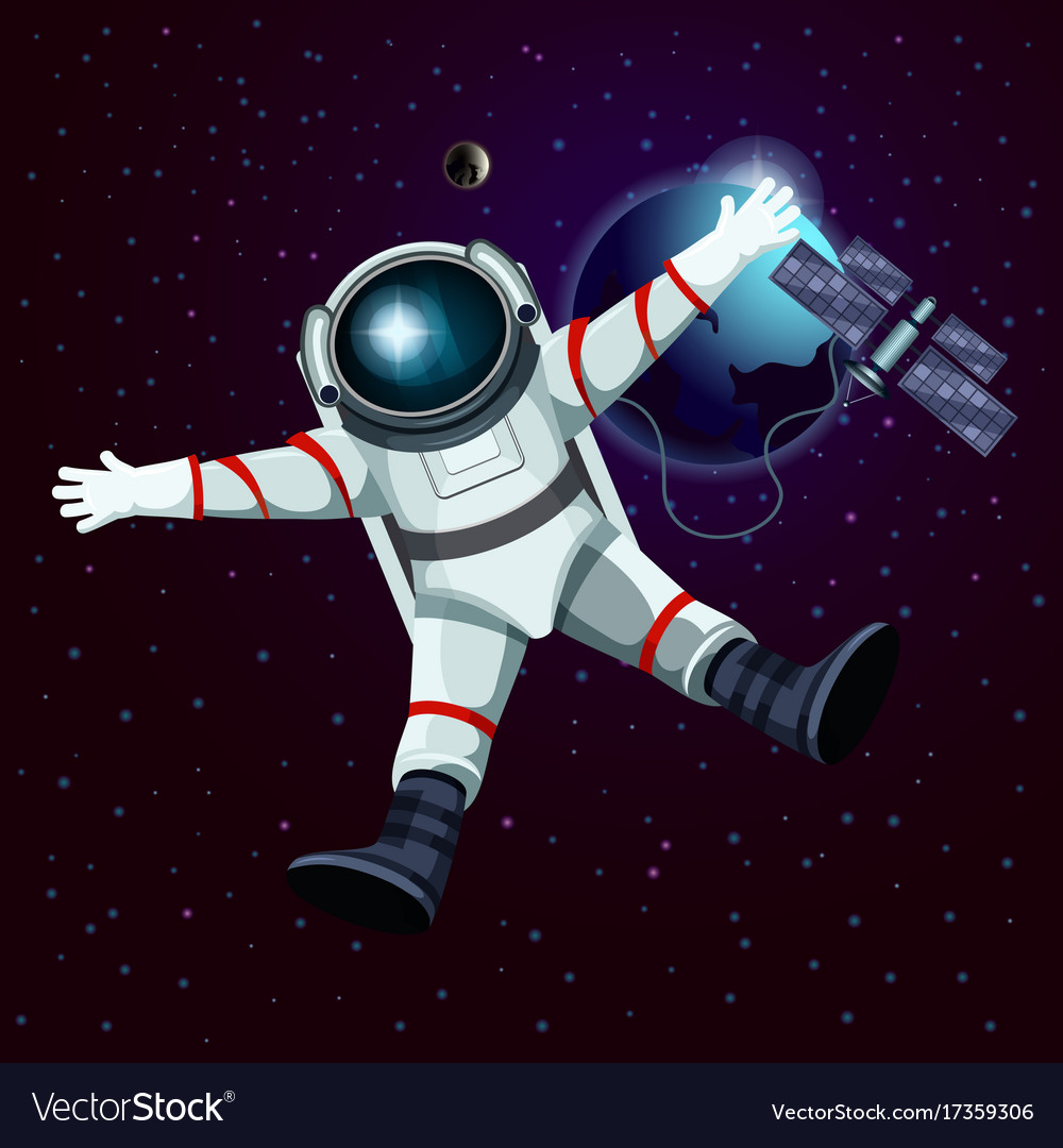 Spaceman or cosmonaut astronaut in space