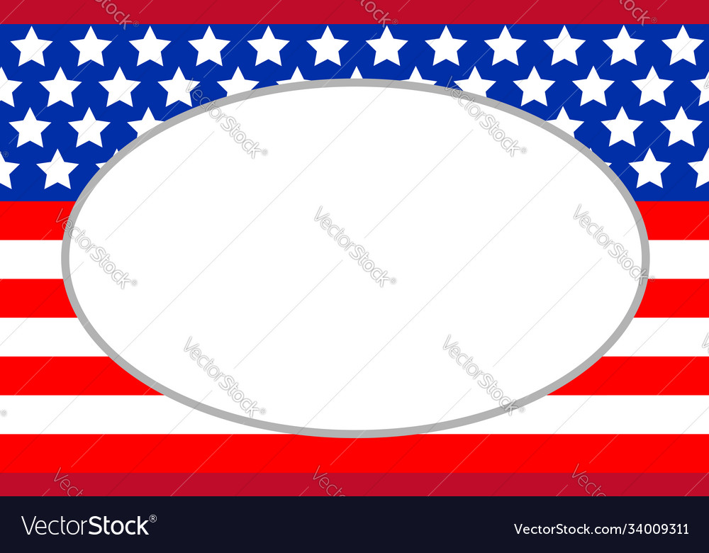 Abstract american flag with an empty space