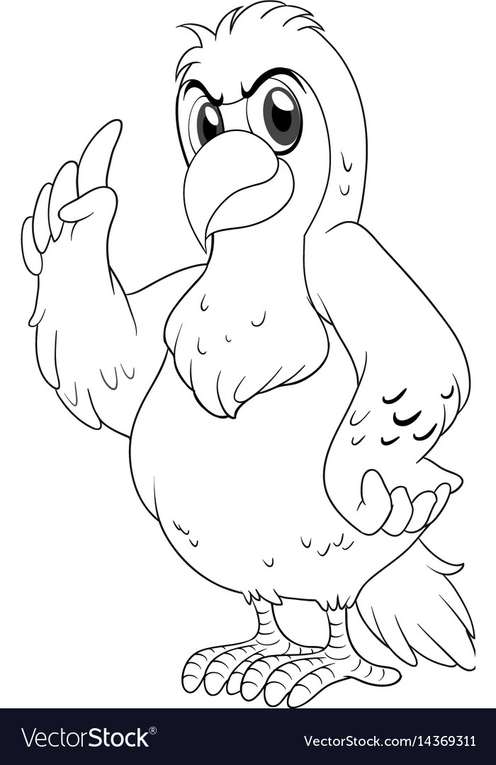 Animal outline for parrot