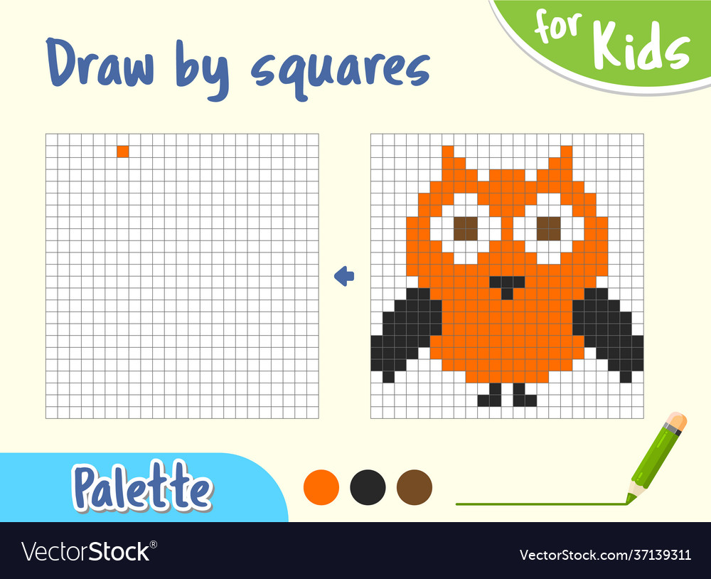 Copy picture game for small children draw
