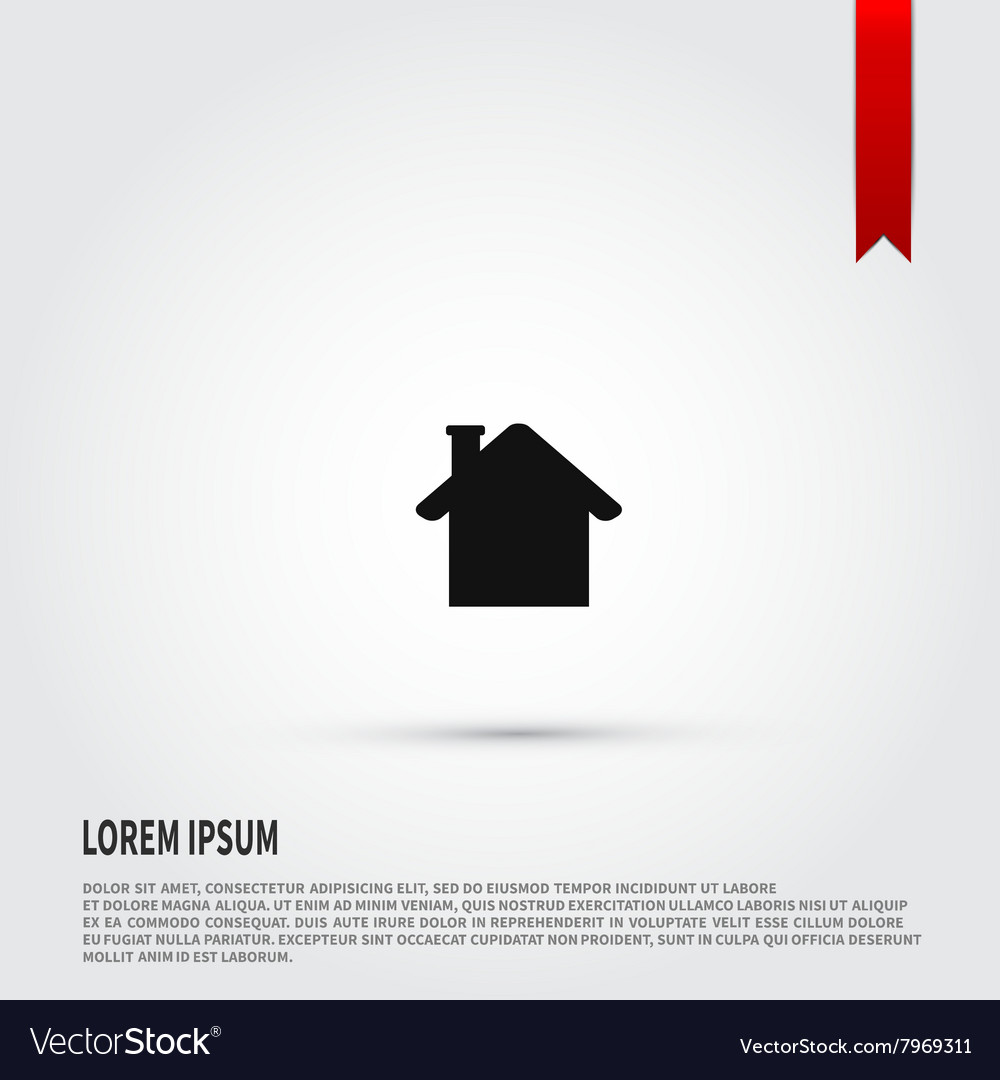 House icon House symbol Flat design style vector image