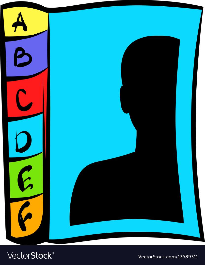 Phone book icon icon cartoon vector image