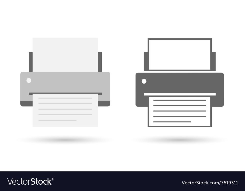 Printer icon flat