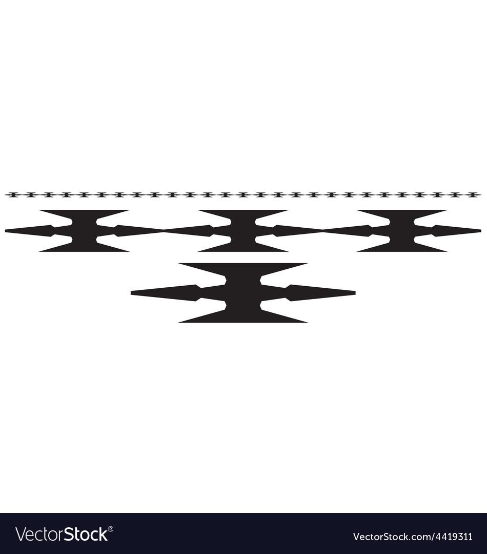 Razor wire Royalty Free Vector Image - VectorStock