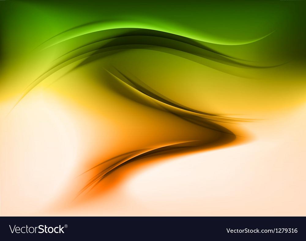 Abstract smoke green orange