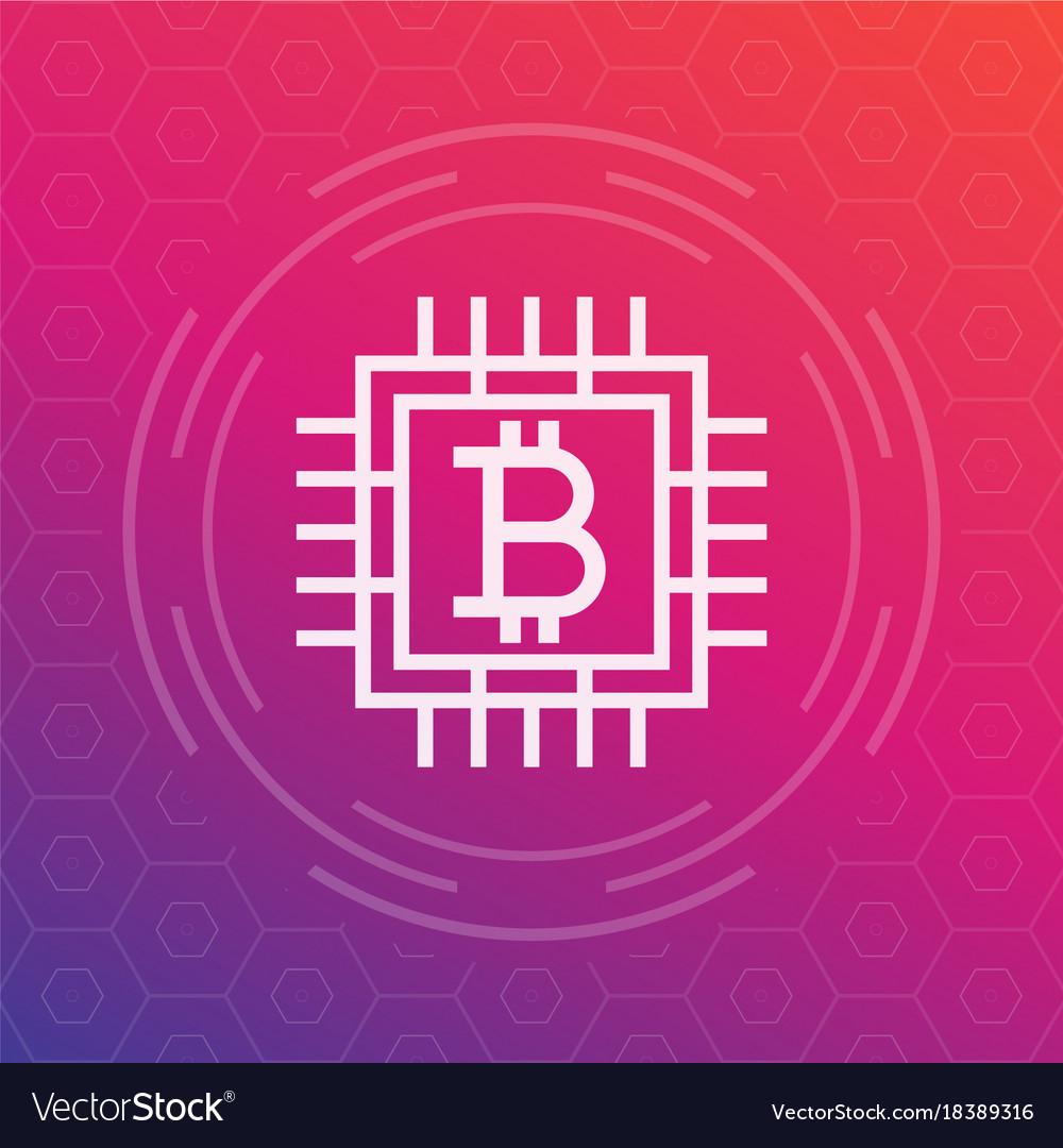 Bitcoin icon linear style