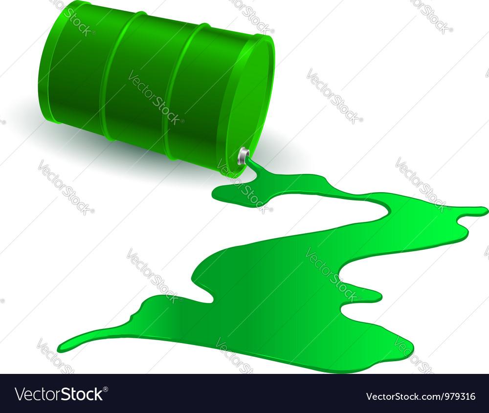 Chemical barrel vector image