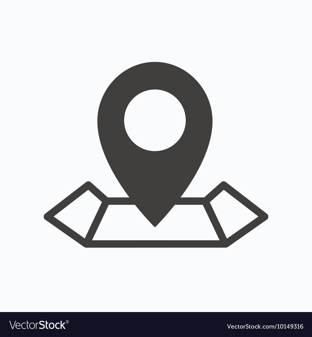 location icon map pointer sign royalty free vector image vectorstock