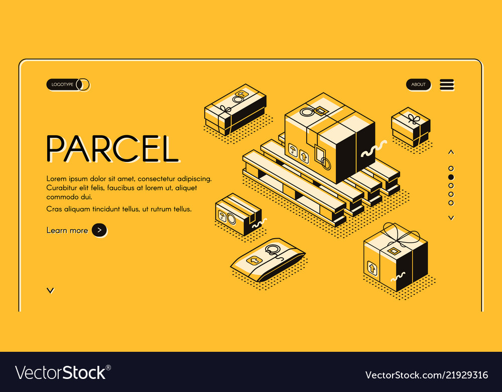 Parcel mail logistics delivery