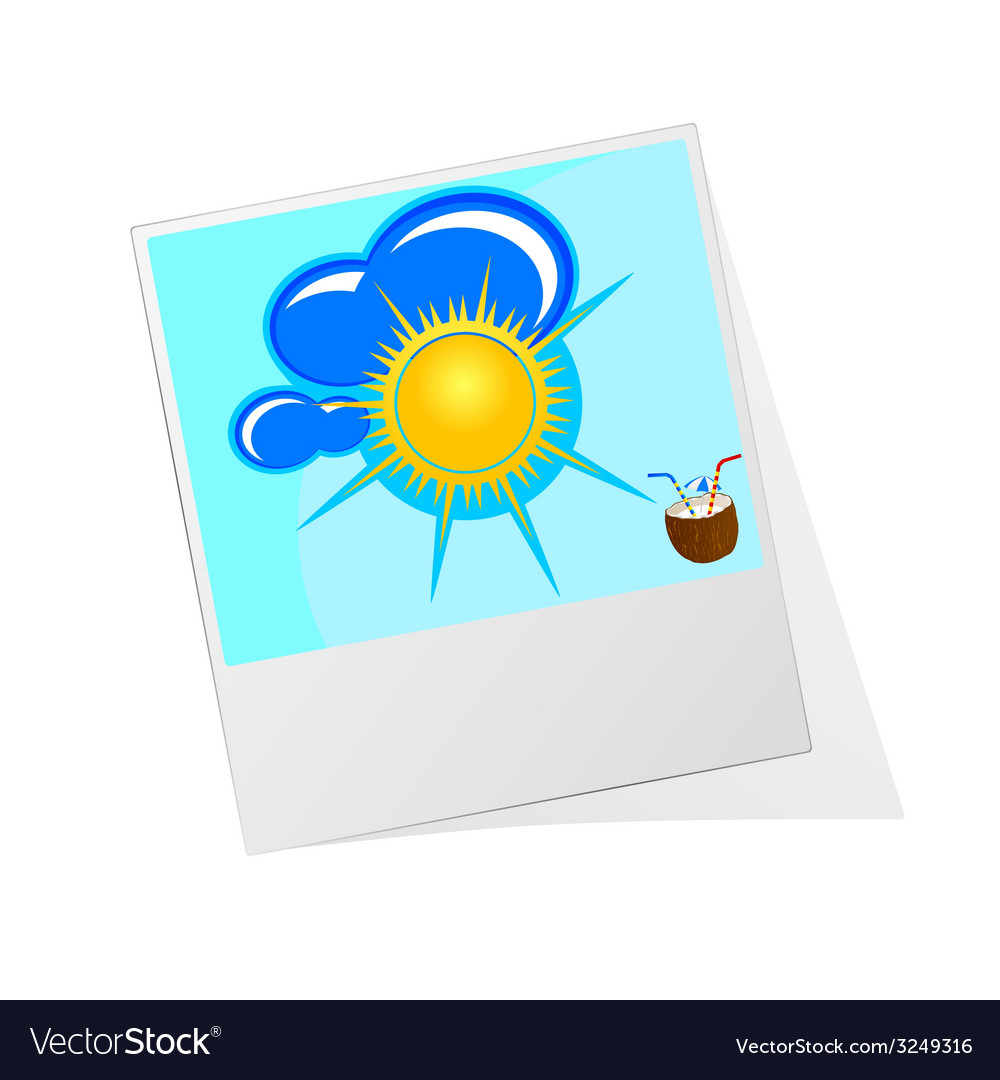 Photo frame with sun icon