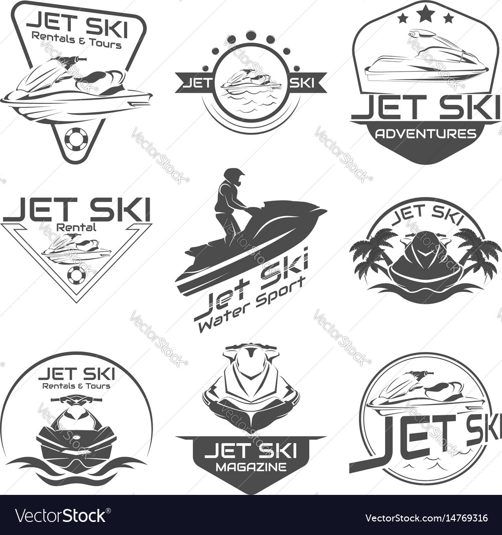 Set logo jet ski scooter