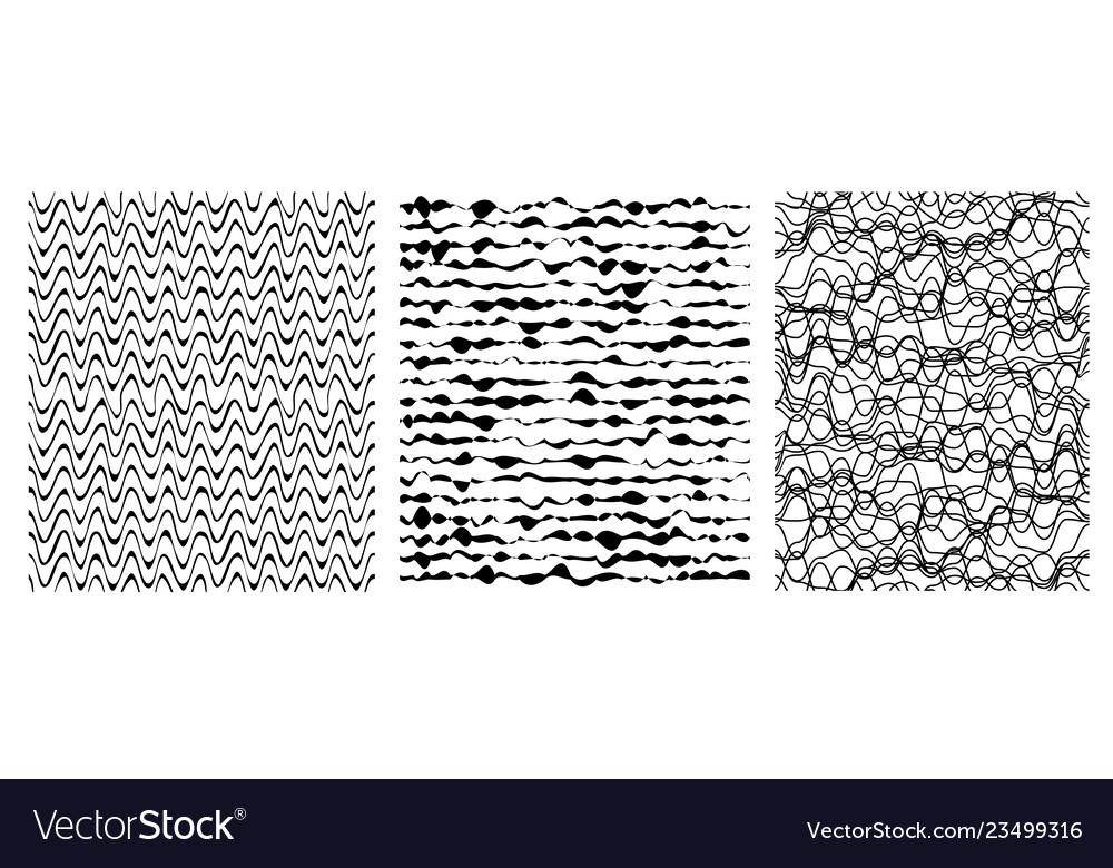 Set of seamless grunge pattern art