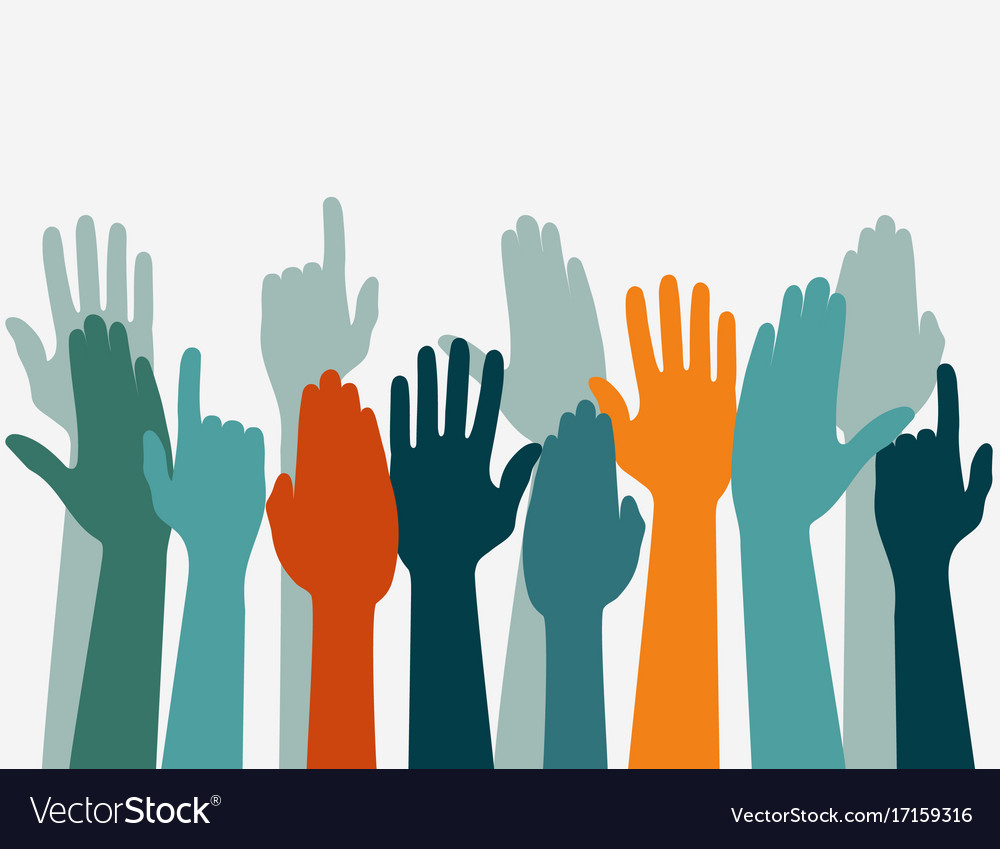Voting Hand Raised Up Election Concept Arms In Vector Image Download free hands png images. vectorstock