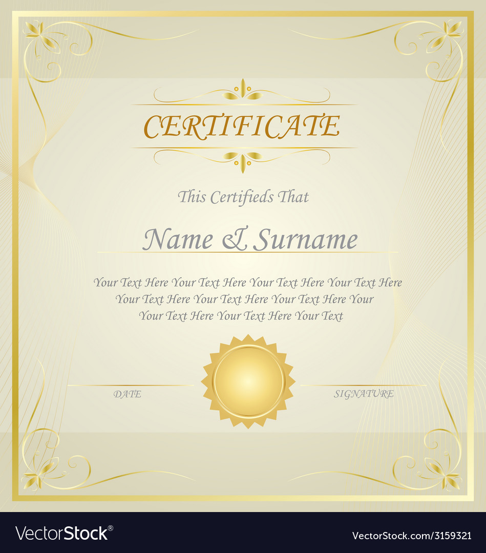 Diploma or certificate design template royalty free vector diploma or certificate design template vector image thecheapjerseys