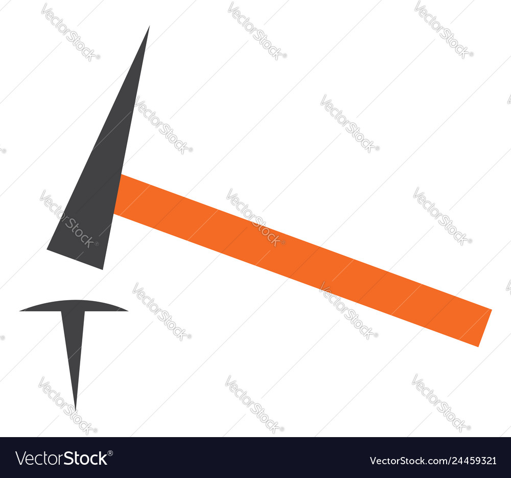 hammer and nail clipart or color royalty free vector image vectorstock