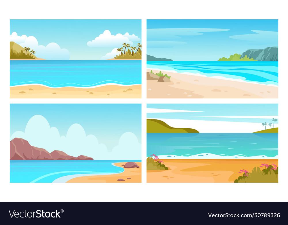 Beach sea landscapes tropical seascapes