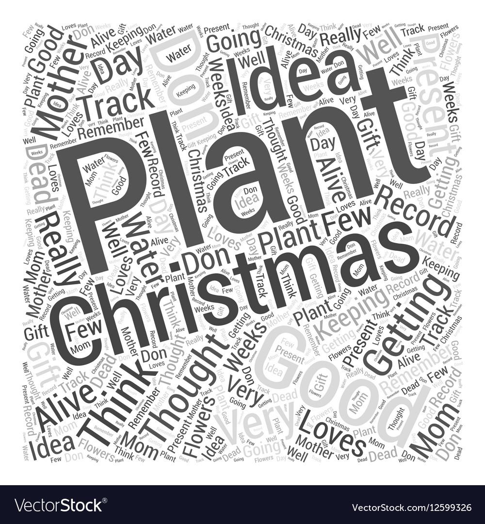 christmas gift for mom word cloud concept vector image - Christmas Present For Mom