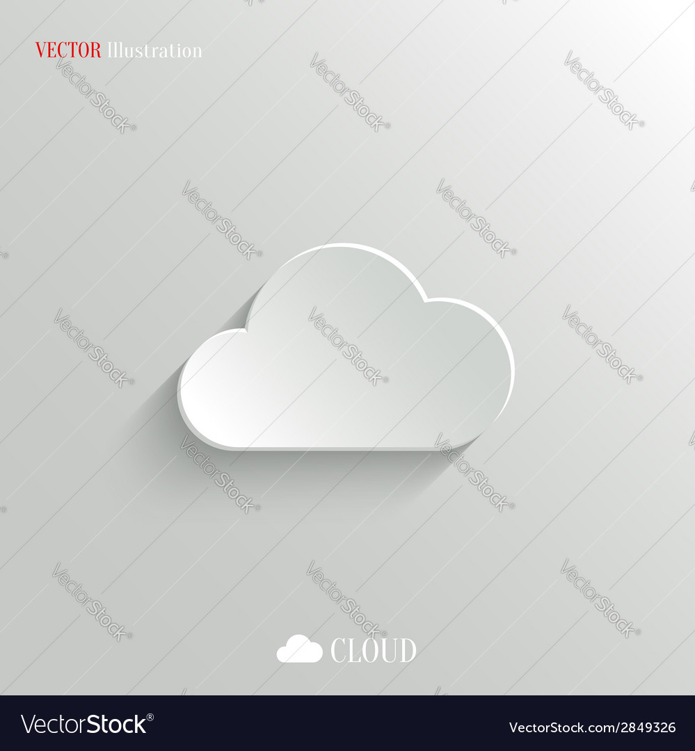 Cloud icon - white app button