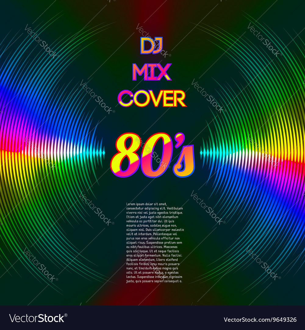 Music cover with waveform as a vinyl grooves vector image