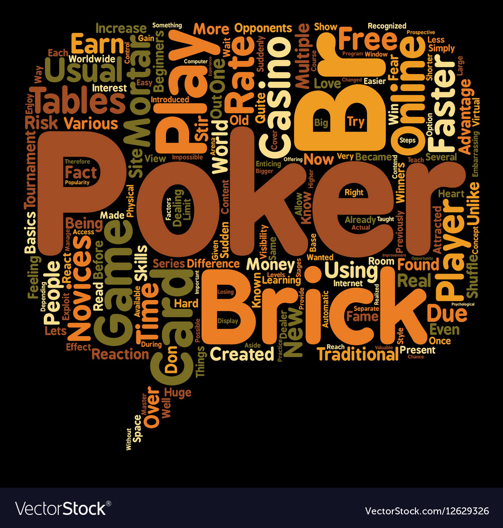 Online poker game card 1 text background wordcloud