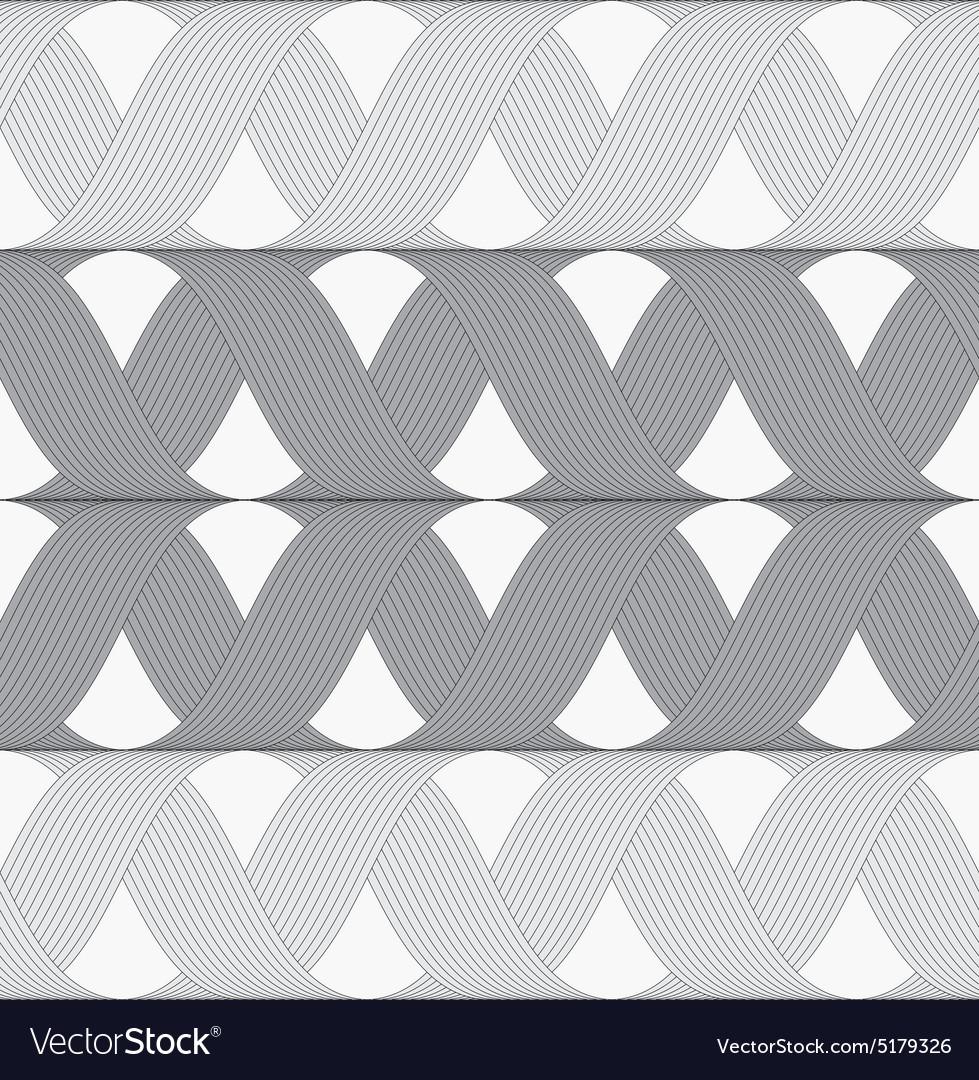 Ribbons gray shades crosses grid pattern