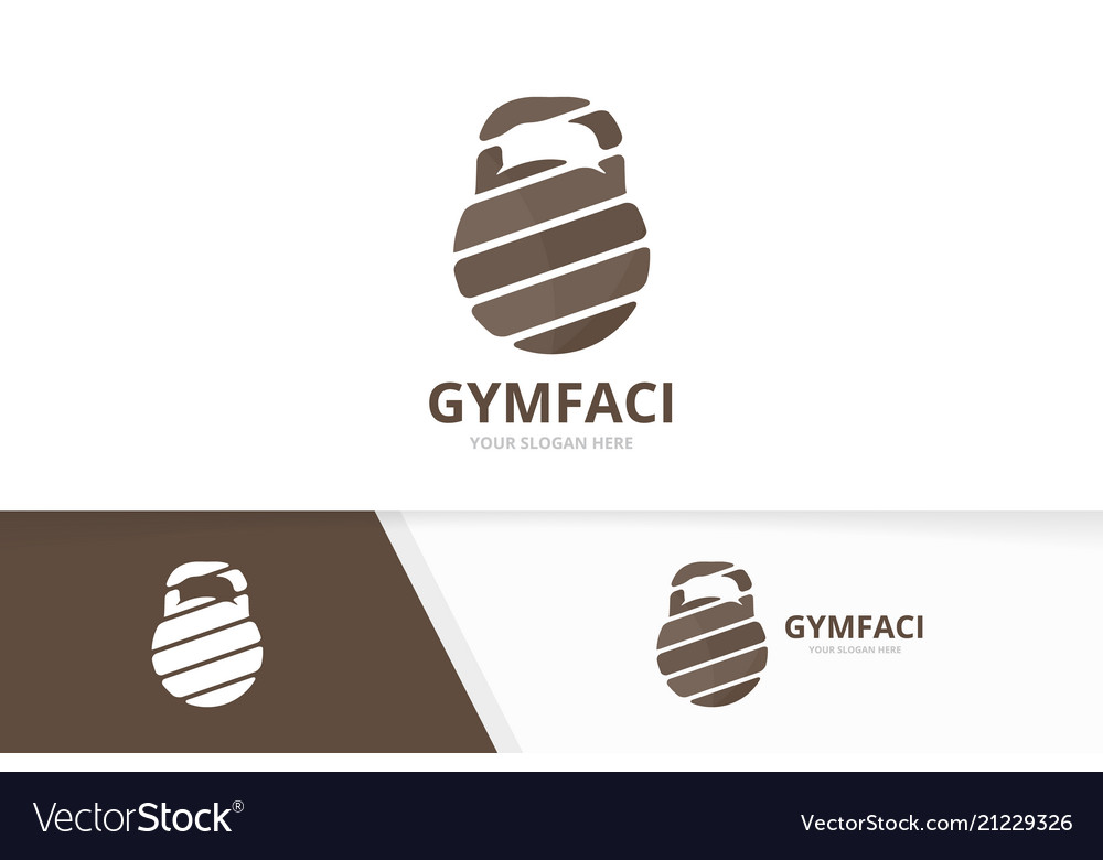 Sport logo combination gym symbol or icon