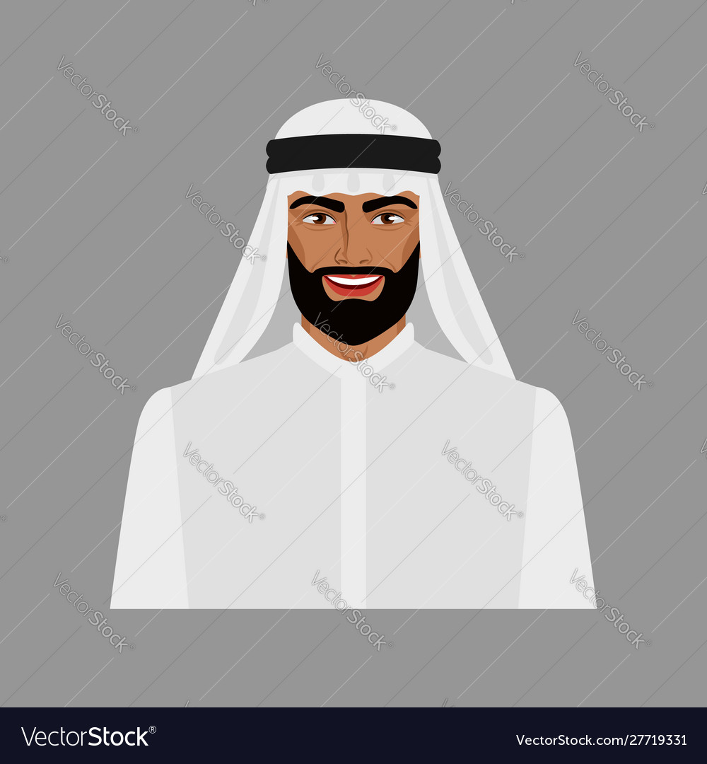 Arabian businessman in traditional clothes