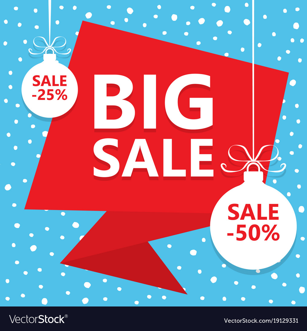 Big christmas sale winter sale poster