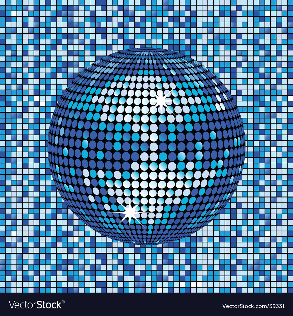 Blue abstract disco ball background