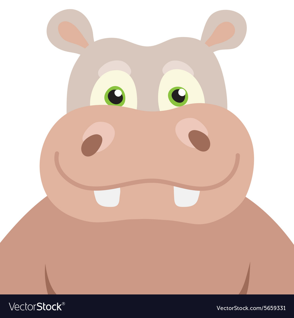 Cartoon Hippopotamus portrait