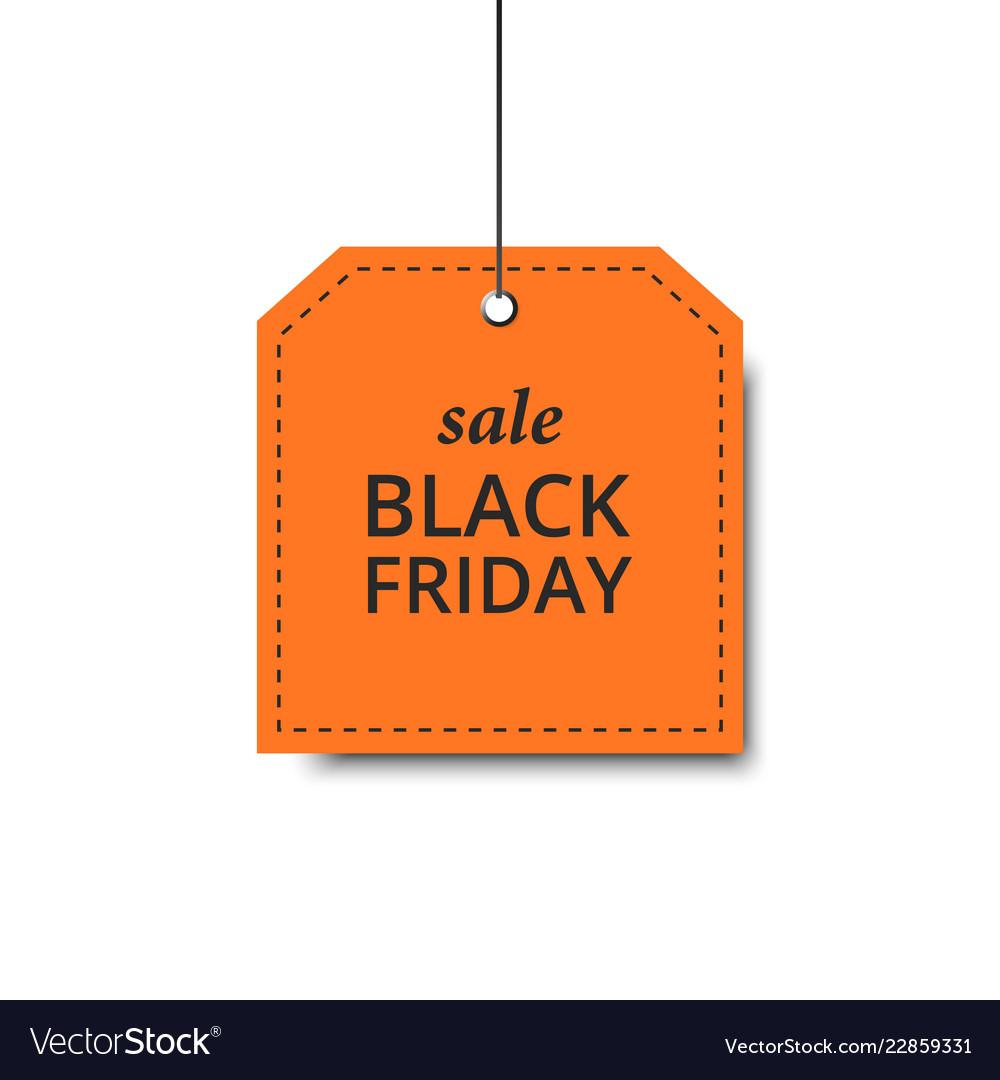 Label black friday orange holiday design sale