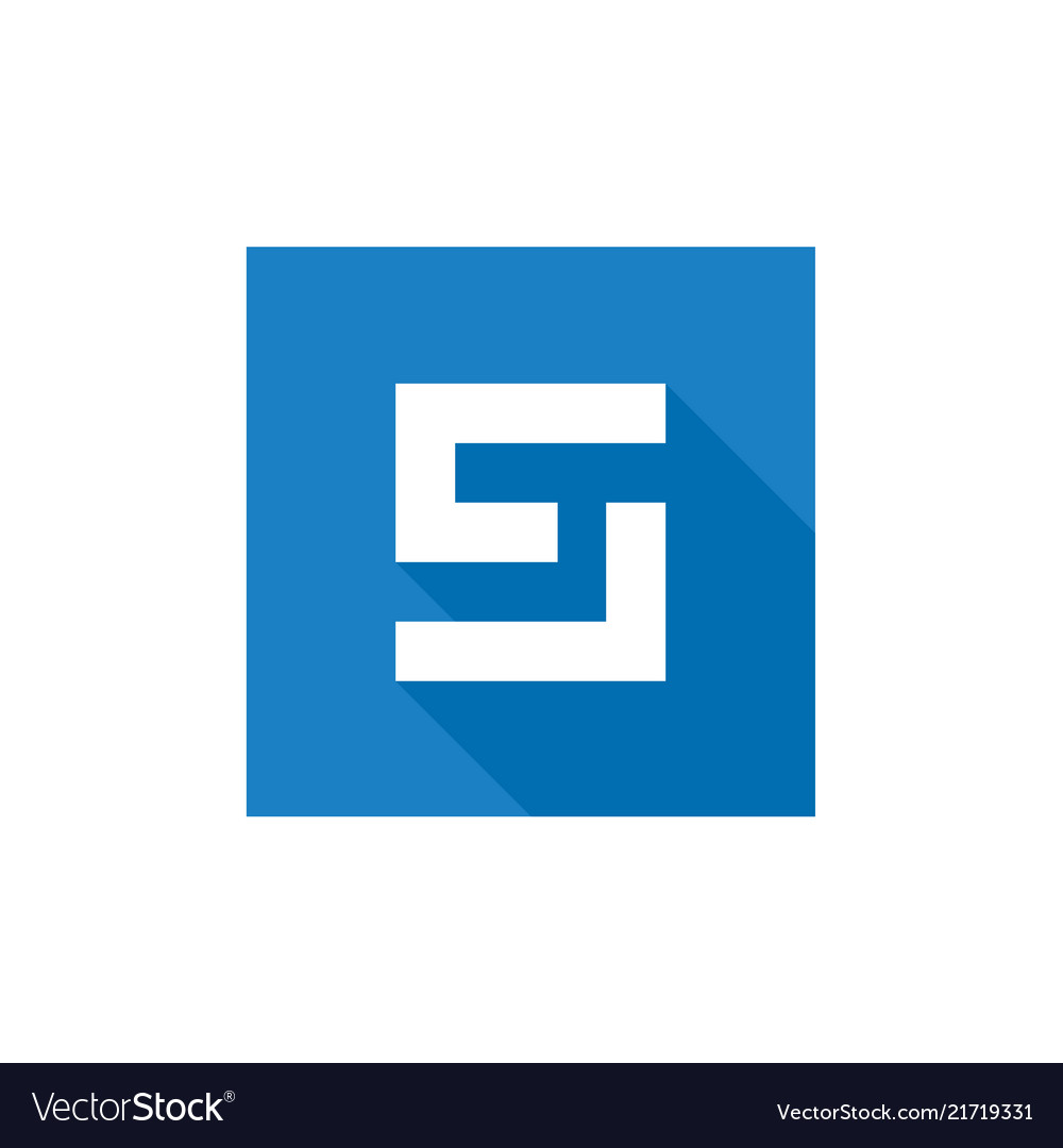 Letter s logo design blue s letter icon