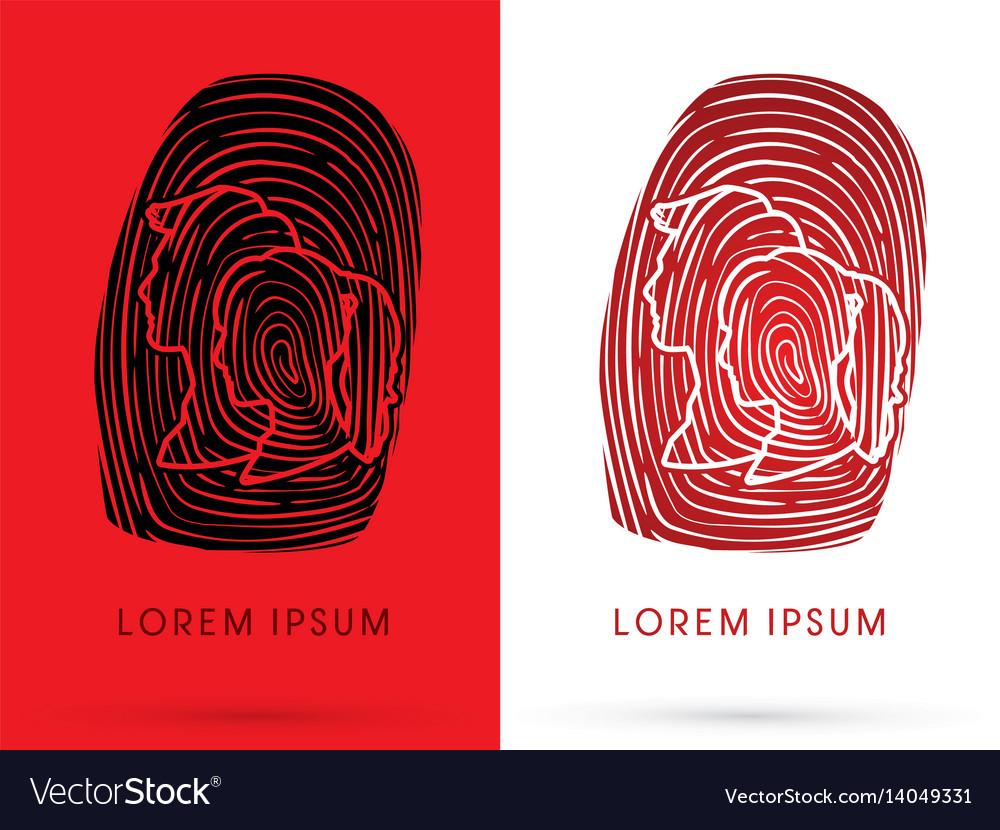 Man and woman fingerprint vector image