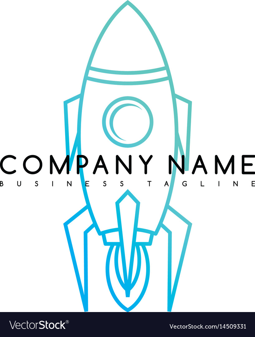 Space rocket shuttle brand logo template logotype vector image